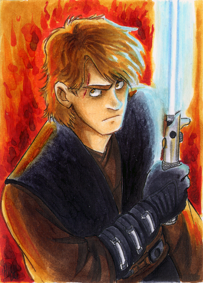 Anakin Skywalker Sketch Card by Renny08