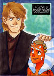 Anakin and Ahsoka Sketch Card