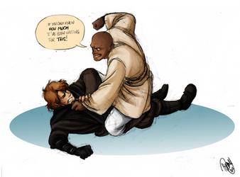 Star Wars - Anakin vs Mace by Renny08