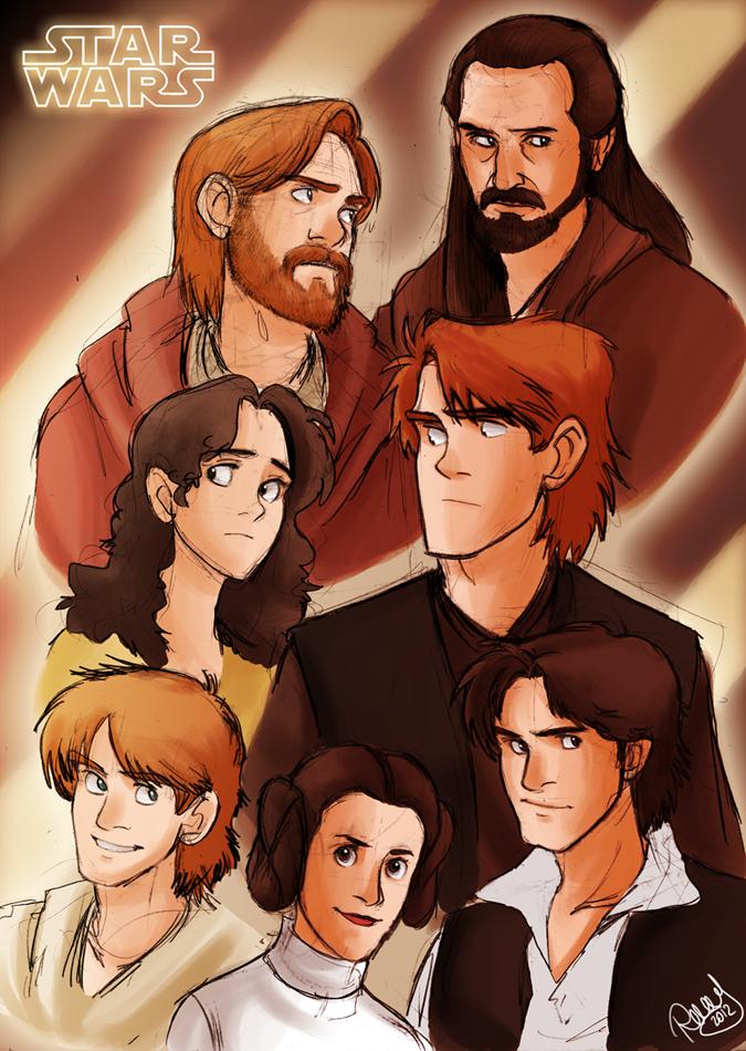 Star Wars Heroes by Renny08