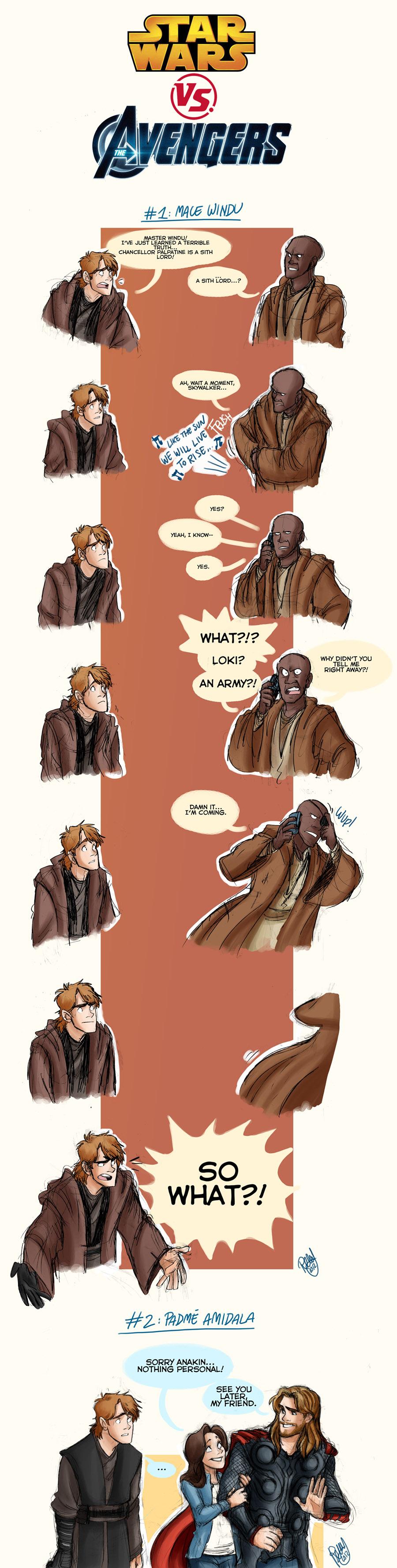 The Avengers VS Star Wars