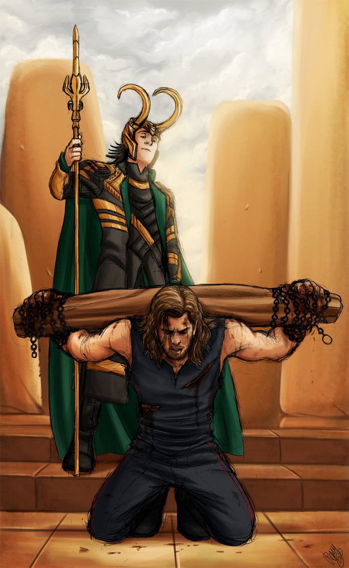 Thor and Loki - Blood Brothers by Renny08