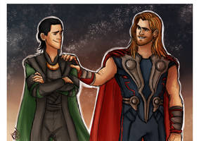 Avengers - Thor and Loki, Sons of Odin by Renny08