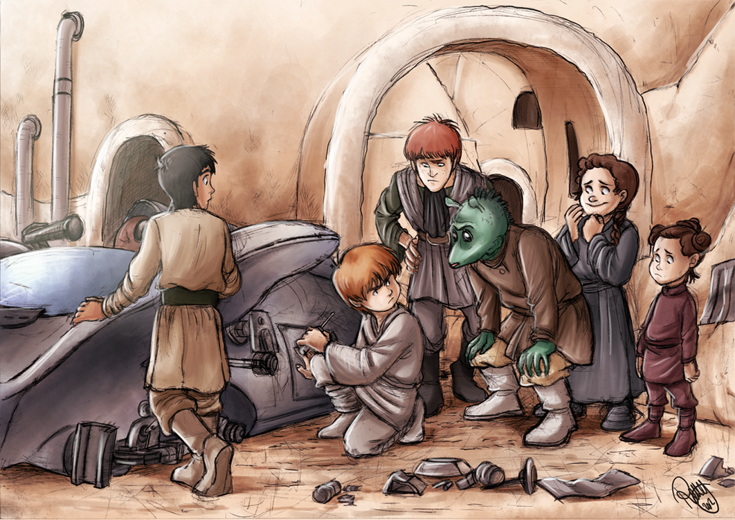 Star Wars - Building A Podracer by Renny08