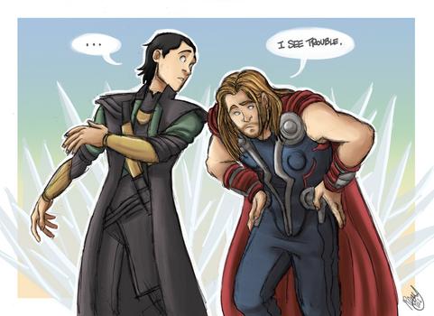 The Avengers - Thor and Loki: I See Trouble