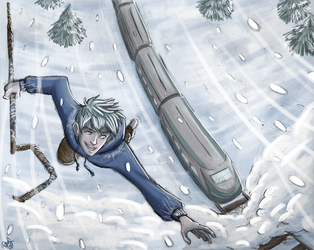 Rise of The Guardians -Jack, some snow and a train by Renny08