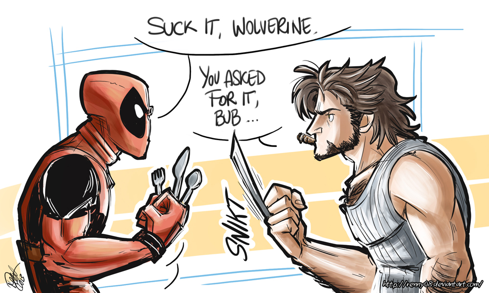 Deadpool and Wolverine - You asked for it by Renny08 on ... X Men Deadpool Drawings