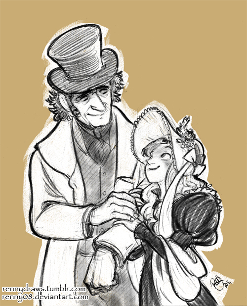 Commission- Valjean and Cosette by Renny08