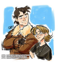 Roscoe and Anna sketch by Renny08