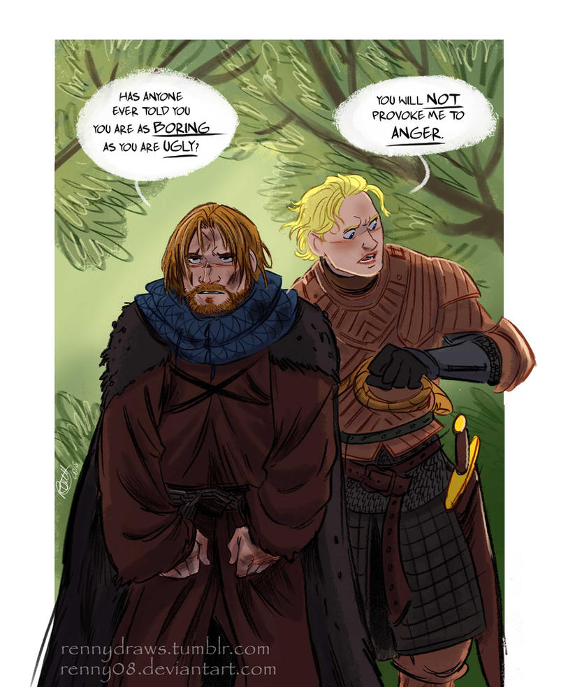 Game of Thrones' Jaime and Brienne by Renny08