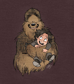 Little Kylo and Chewie