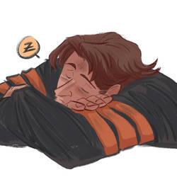 Sleeping Wolvie by Renny08