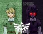 Link VS Dark Link (Legend Of Zelda.)
