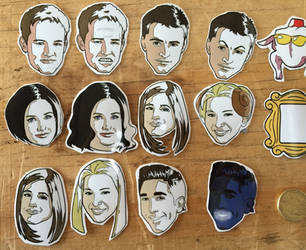 Friends TV Sticker set. by DannyJarratt