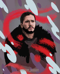 Jon Snow - Abstracted - Protector of the Great Wal