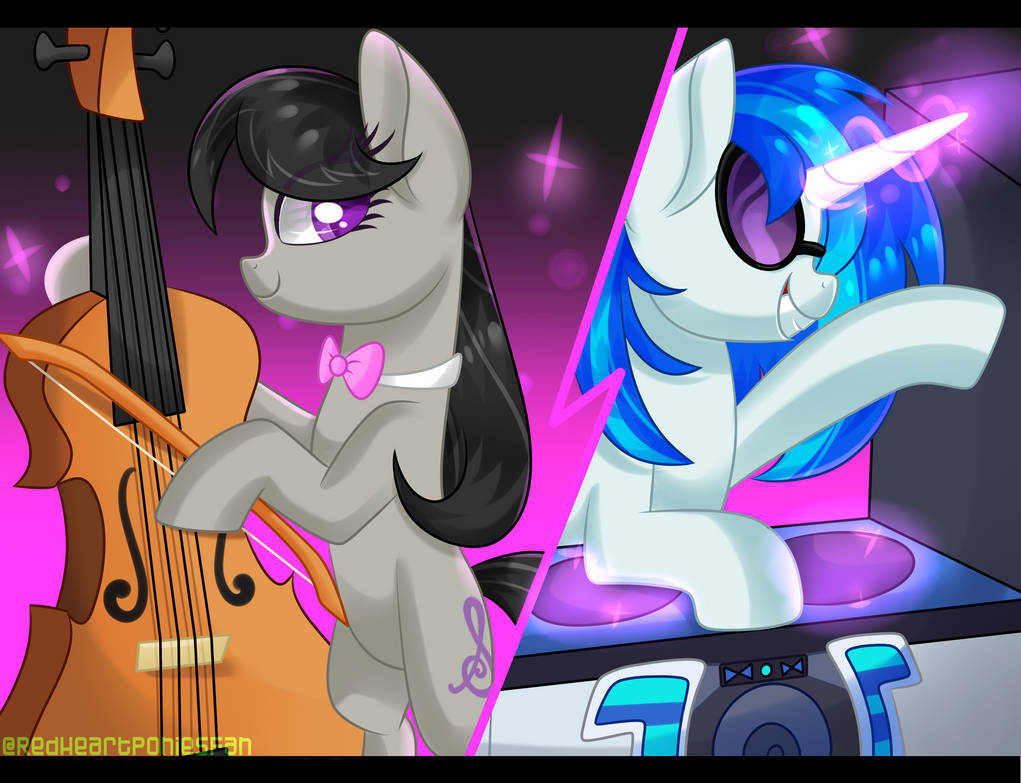 octavia_and_vinyl_by_redheartponiesfan_d