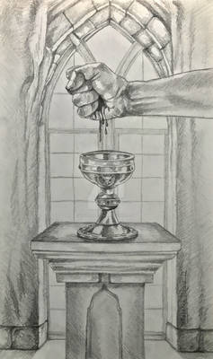 Ace of Cups Initial Sketch