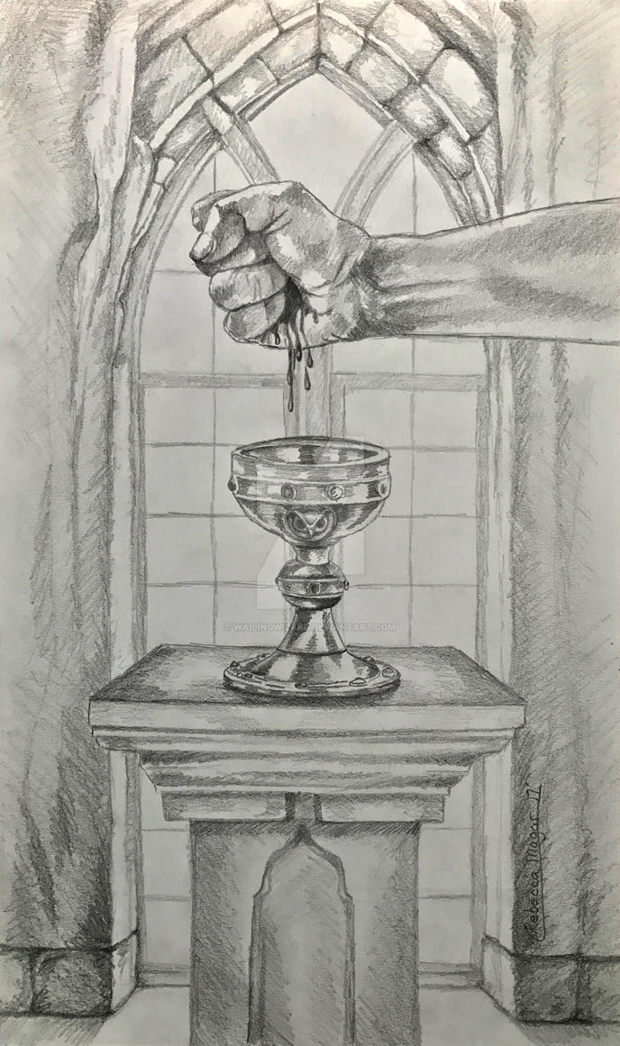 Ace of Cups Initial Sketch by wailingwizard
