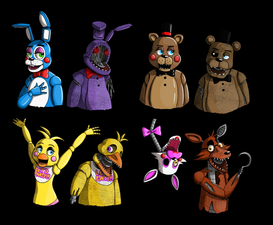 characters in five nights at freddy s 5