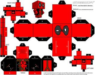 Deadpool Cubeecraft by spidey42410