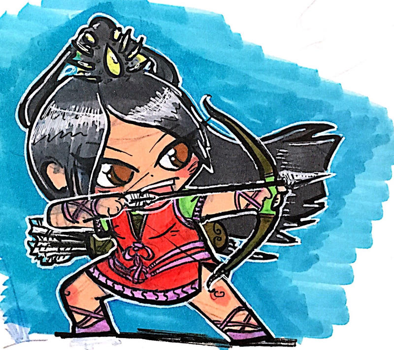 DnD Chibi - Fighter (Archer) by Sebbythefreak