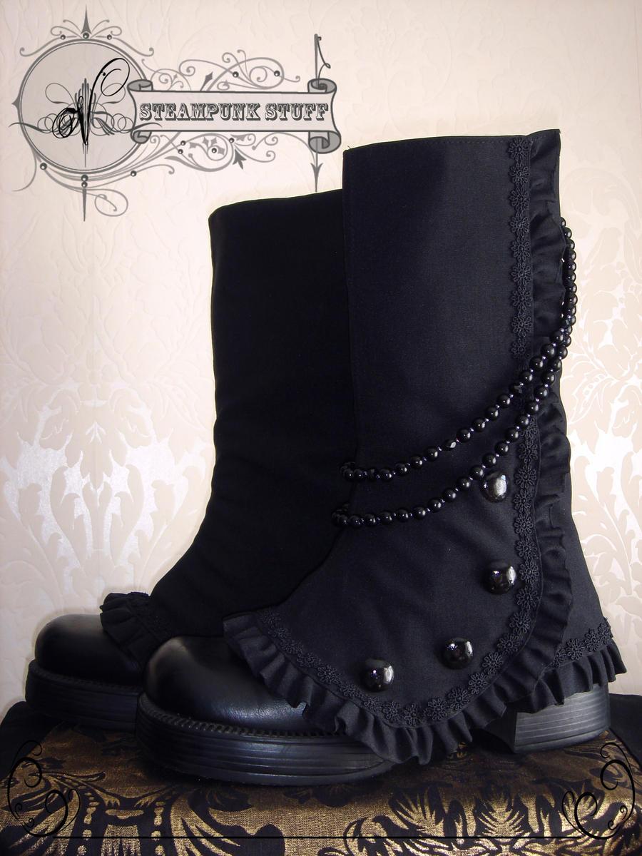 Steam-Aristokrat Black Spats by Vadien