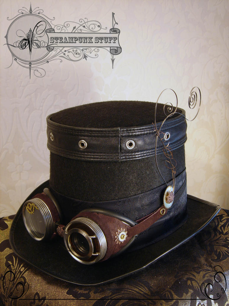 Steam-Aristokrat Top Hat and Goggles by Vadien