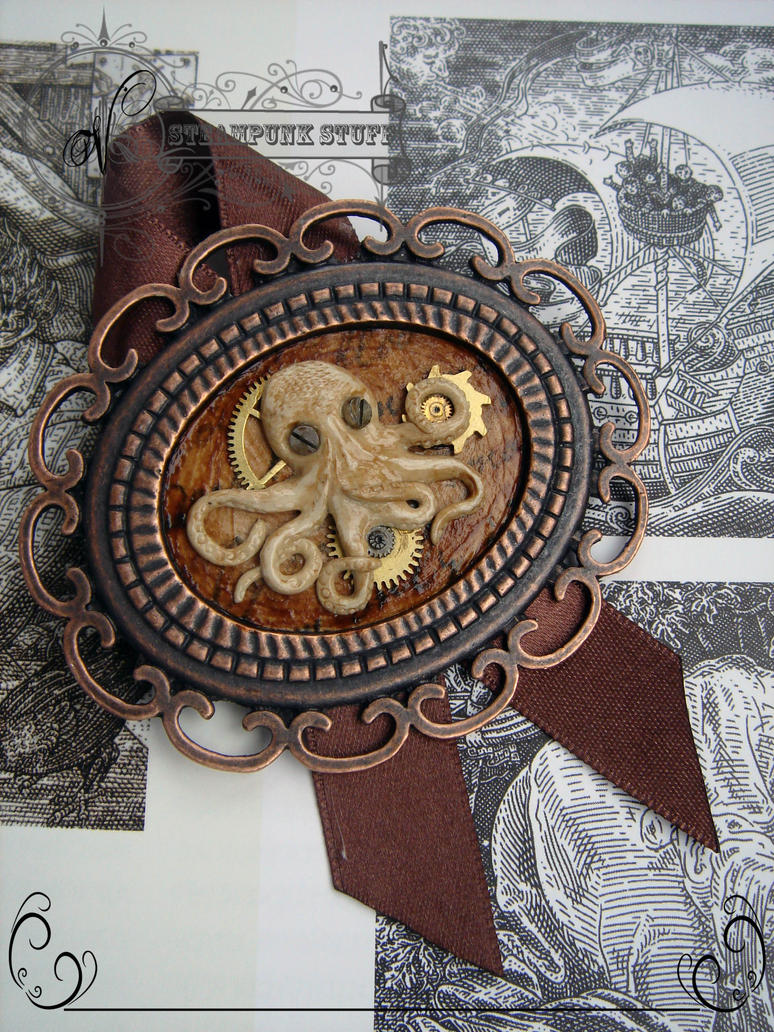Steampunk Octopus by Vadien