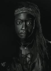 Walking Dead - Michonne  invert by SabinasArts