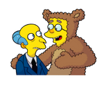 Mr. Burns and his Bobo Smithers sticker