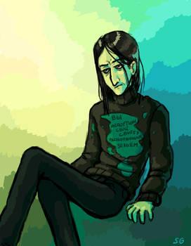 Severus Snape in the sweater