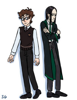 Llewellyn Strangelove and young Severus Snape