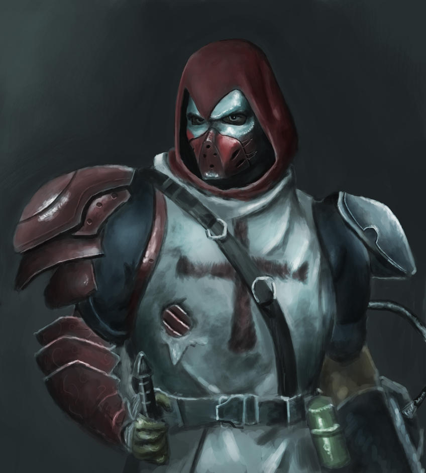 Azrael - Arkham City by andrzejBG