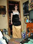 Velvet and Silk Dress