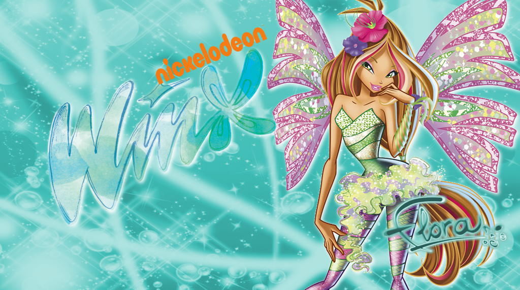 Winx Club Nick 2D Sirenix Flora Wallpaper by Wizplace
