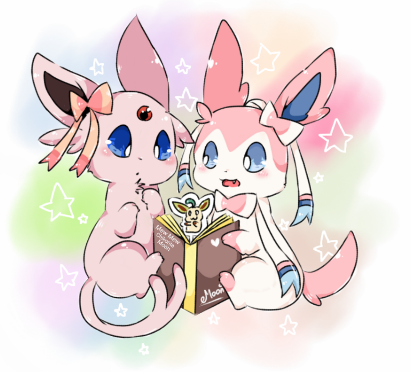 Espeon and Sylveon by ChikoritaMoon on DeviantArt
