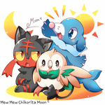Rowlet, Litten and Popplio