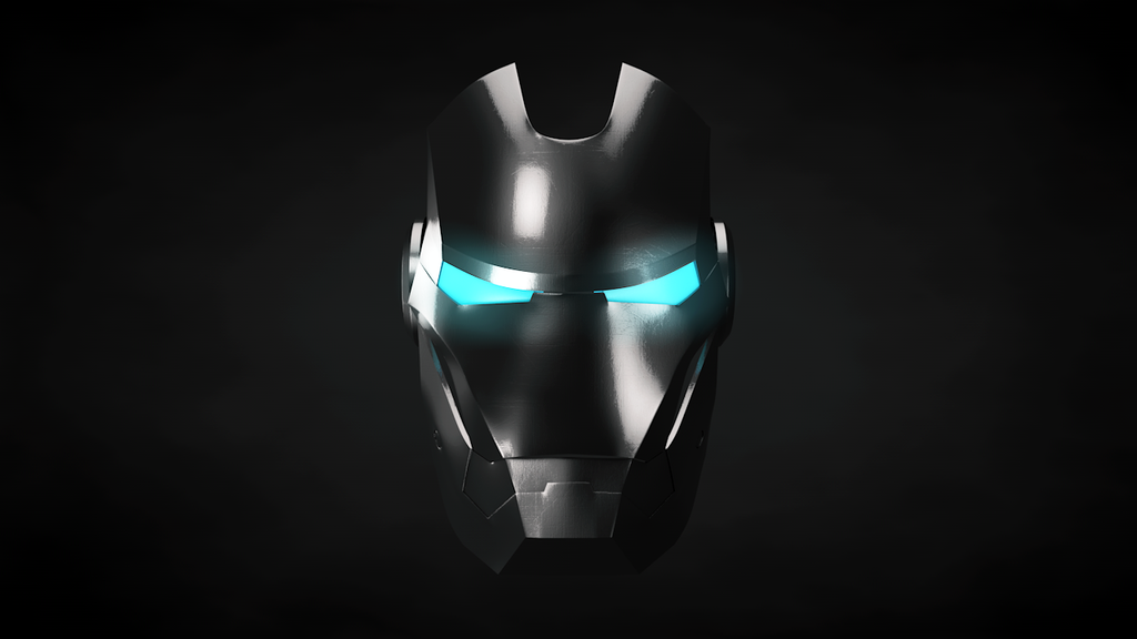 blue iron man minecraft skin iron man helmet front black