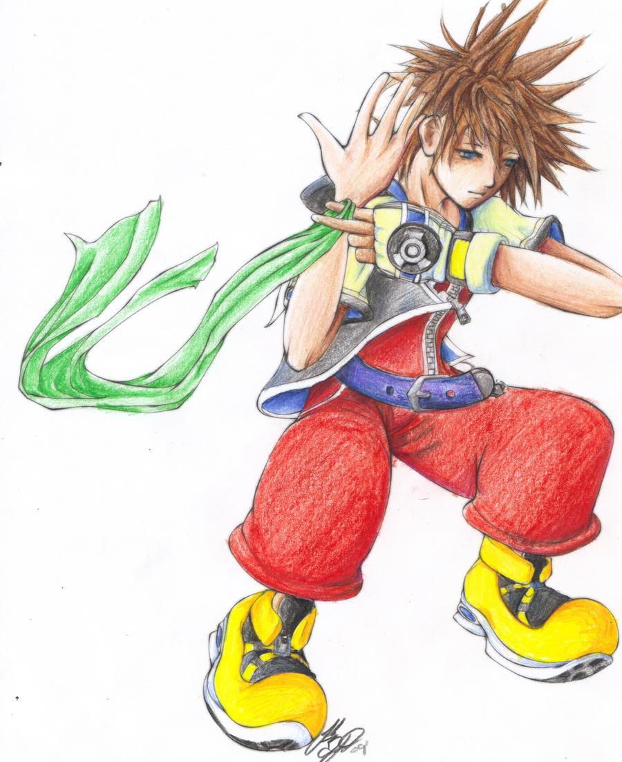 Sora Kingdom Hearts 1 By Gaaraofthehiddinsand On DeviantArt