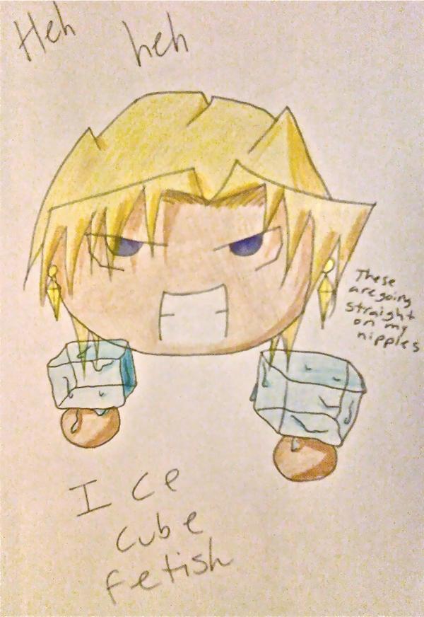 Ice cube fetish