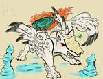 Amaterasu in the Moon cave by Hyper-Stan