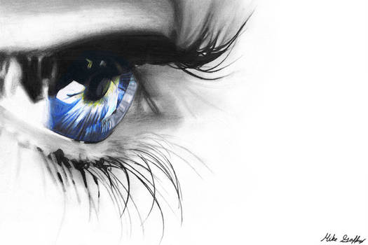 Colored Pencil Blue Eye by theGaffney