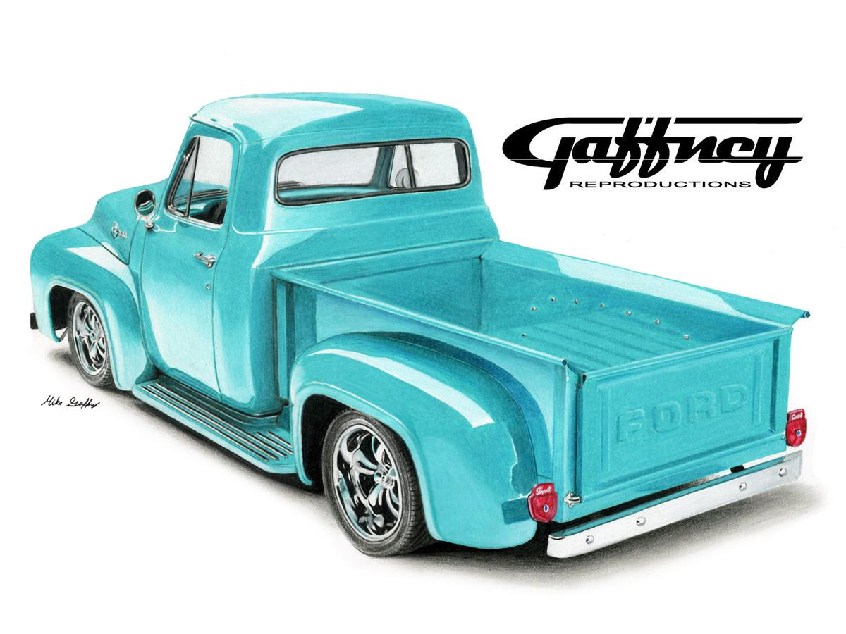 1955 Ford Trucks F100 Pickup Truck By