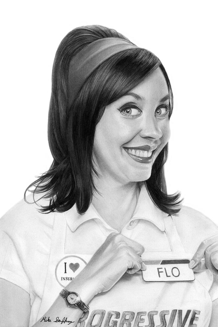 Flo pencil drawing by thegaffney on deviantart - Flo progressive wallpaper ...