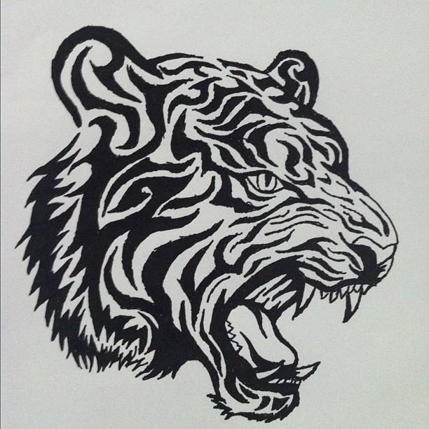 Tribal Tiger by ramaparooo
