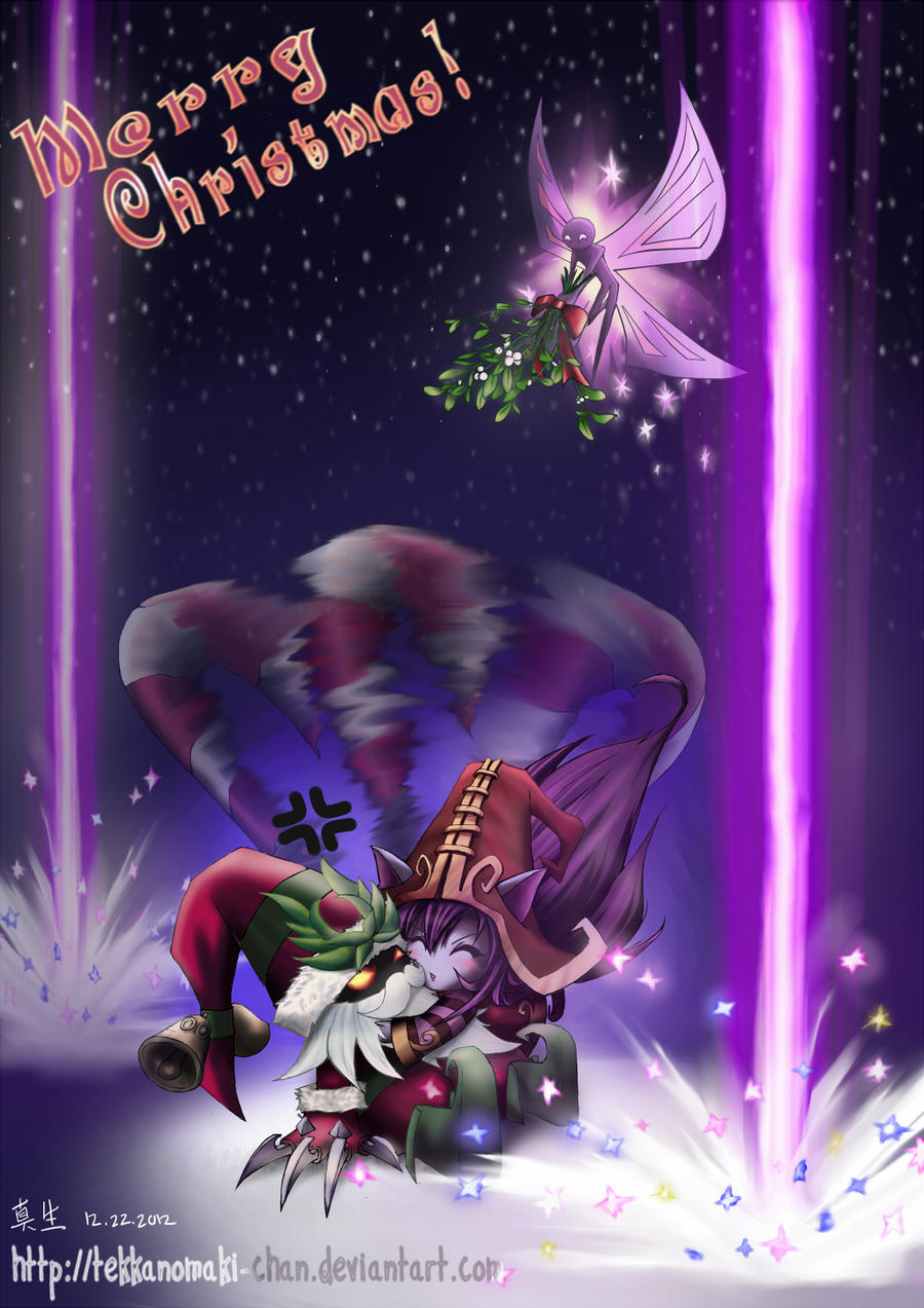 Lulu x Veigar's Christmas by TekkanoMaki-chan