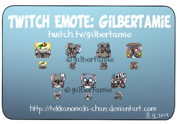Commission: Twitch Emote for Gilbertamie by TekkanoMaki-chan