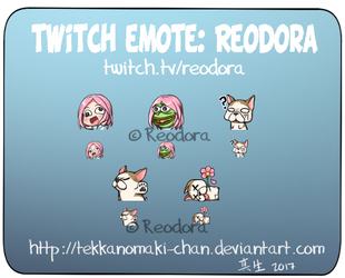 Commission: Twitch Emote for Reodora by TekkanoMaki-chan