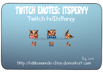 Commission: Twitch Emotes for ItsPervy by TekkanoMaki-chan