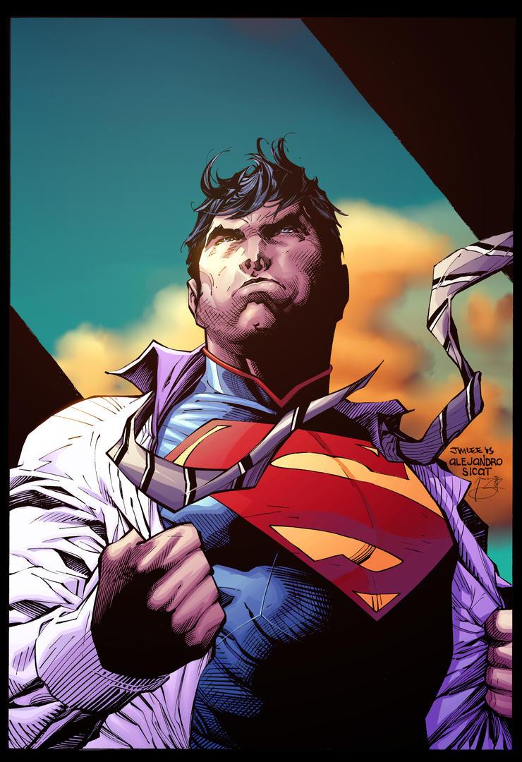 Jim Lee  Superman Wondercon by Jasen-Smith